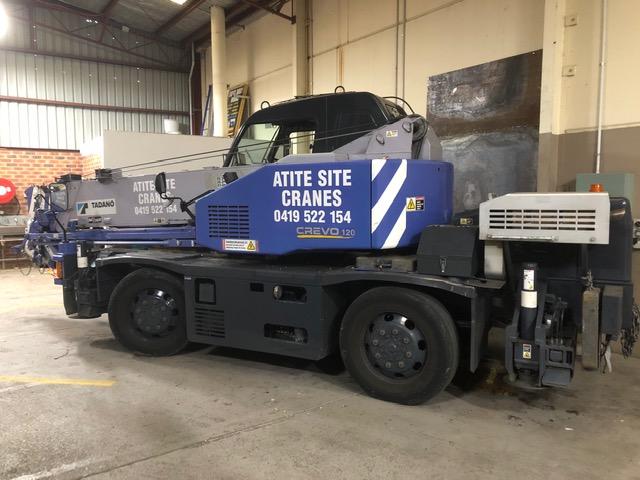 Tadano 12 Tonne City Crane hire - Atite Site Crane Services